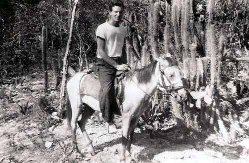 Dick saddles up to explore Haiti