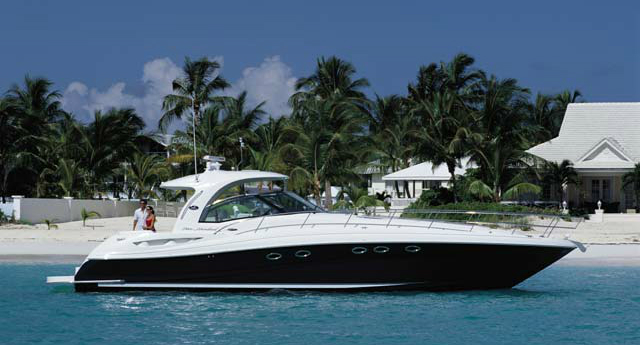 The 54' Sea Ray, Sundancer, rents for $3,000 per day out of Miami Beach
