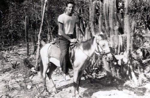 Dick saddles up to explore Haiti